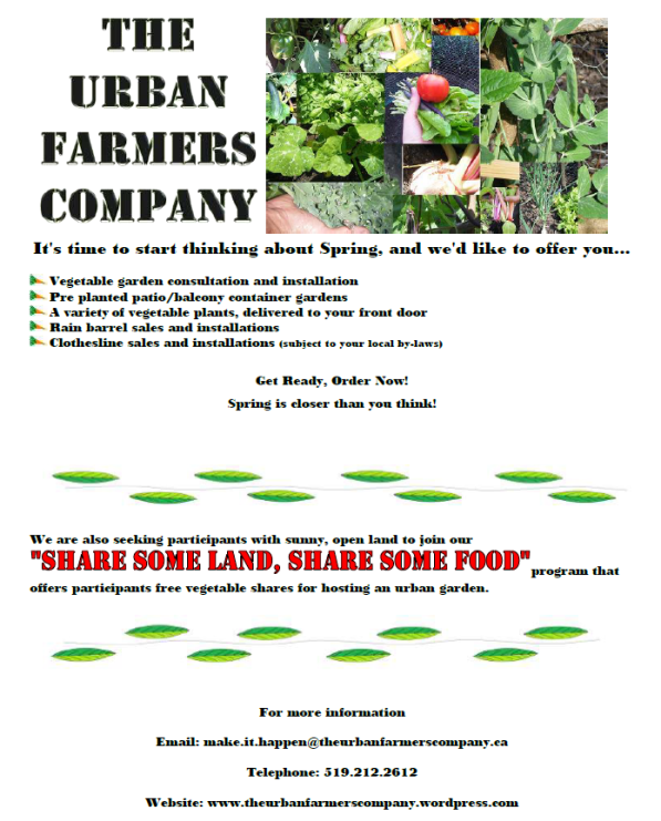 The Urban Farmers Company 2012 Spring Ad